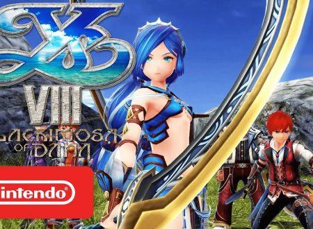 Ys VIII: Lacrimosa of DANA, il titolo è in arrivo il 29 giugno sui Nintendo Switch europei, mostrato un nuovo trailer