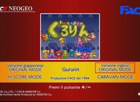 ACA NEOGEO Gururin: uno sguardo in video al titolo dai Nintendo Switch europei