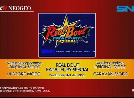 ACA NEOGEO Real Bout Fatal Fury Special: uno sguardo al titolo dai Nintendo Switch europei