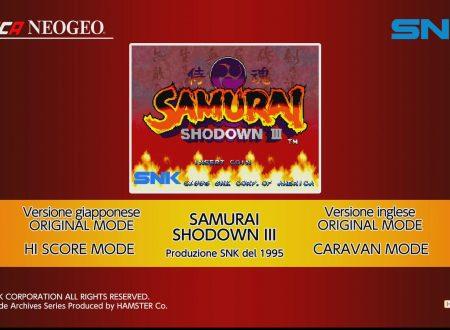 ACA NEOGEO Samurai Shodown III, uno sguardo in video al titolo dai Nintendo Switch europei