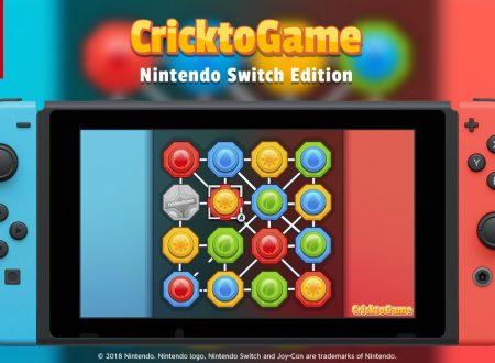CricktoGame: il titolo è in arrivo in estate sull'eShop di Nintendo Switch