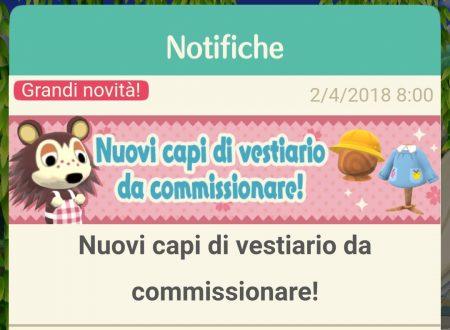 Animal Crossing: Pocket Camp, disponibile del nuovo vestiario da commissionare ad Agostina