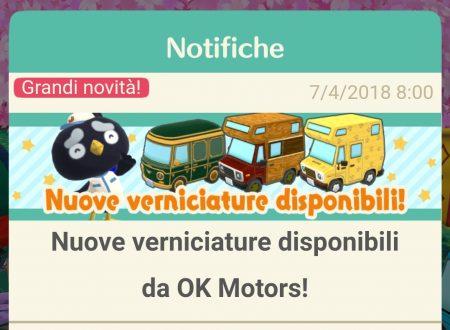 Animal Crossing: Pocket Camp: disponibile delle nuove verniciature da OK Motors