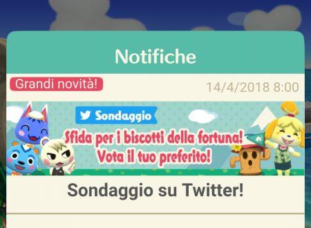 Animal Crossing: Pocket Camp, aperto il sondaggio su Twitter per scegliere il primo Biscotto della Fortuna