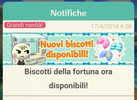 Animal Crossing: Pocket Camp, il titolo aggiornato alla versione 1.4.0, disponibili i Biscotti della Fortuna