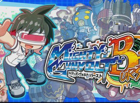 Mighty Gunvolt Burst: la versione 1.4 in arrivo nelle prossime ore assieme a Tenzou, nuovo personaggio DLC
