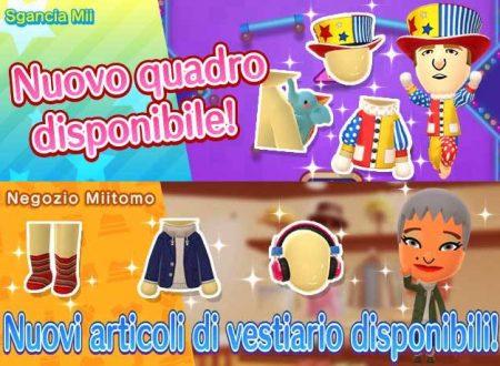 Miitomo: i nuovi indumenti del 6 aprile nel minigioco Sgancia Mii e nel negozio