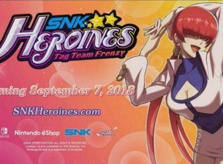 SNK HEROINES Tag Team Frenzy: svelata la presenza di Shermie, titolo in arrivo il 7 settembre su Nintendo Switch
