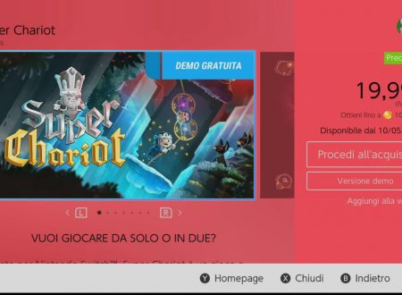 Super Chariot: una demo è ora disponibile sull'eShop europeo di Nintendo Switch