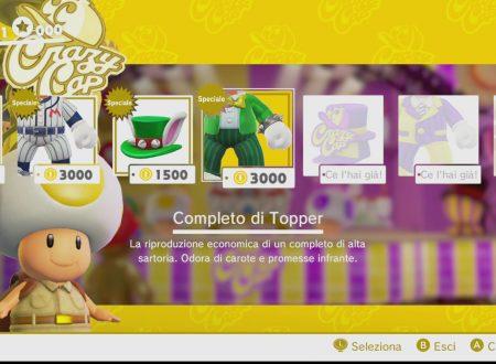 Super Mario Odyssey: il casco e il completo di Topper sono ora disponibili nel gioco