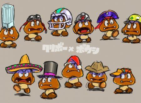 Super Mario Odyssey: l'account Twitter pubblica dei nuovi concept art dei Goomba con cappello
