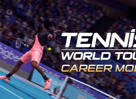 Tennis World Tour: pubblicato un nuovo trailer sulla modalità Carriera
