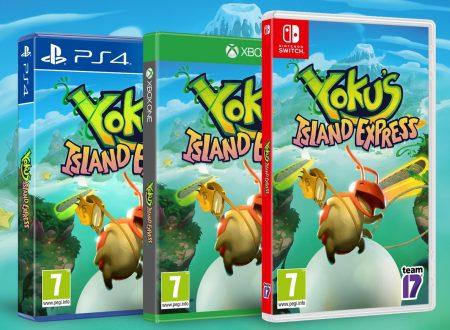 Yoku's Island Express, il titolo è in arrivo in formato retail dal 15 giugno sui Nintendo Switch europei