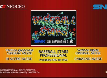 ACA NEOGEO Baseball Stars Professional: uno sguardo in video al titolo dai Nintendo Switch europei