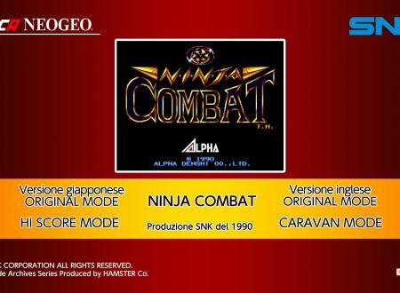 ACA NEOGEO Ninja Combat: uno sguardo in video al titolo dai Nintendo Switch europei