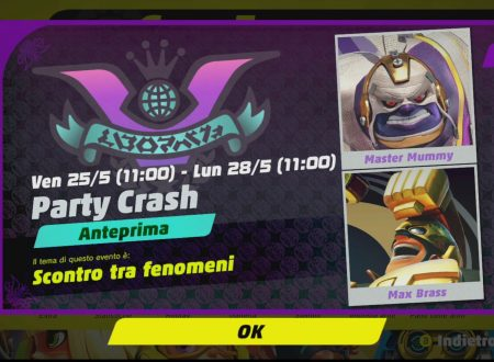 ARMS: svelato il decimo Party Crash: Scontro tra fenomeni, Master Mummy vs. Max Brass