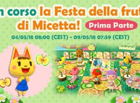 """Animal Crossing: Pocket Camp, iniziato l'evento """"Festa di della frutta di Micetta"""""""