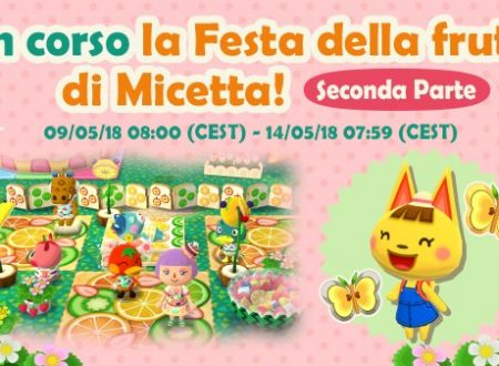 """Animal Crossing: Pocket Camp, ora disponibile la seconda parte della """"Festa della frutta di Micetta"""""""