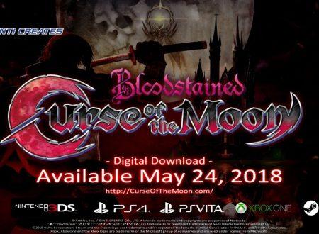 Bloodstained: Curse of the Moon, il titolo è in arrivo il 24 maggio sull'eShop di Nintendo Switch