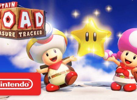 Captain Toad: Treasure Tracker, pubblicato un gameplay trailer americano sul titolo