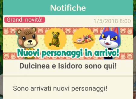 Animal Crossing: Pocket Camp, ora disponibili nuovi animali: Dulcinea, Isidoro, Ninì, Agnola e Brivido