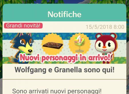 Animal Crossing: Pocket Camp, disponibili nuovi animali: Granella, Melina e Wolfgang