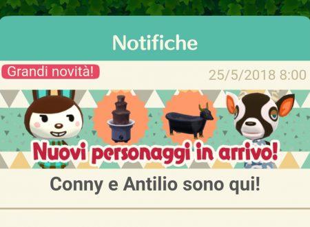 Animal Crossing: Pocket Camp, disponibili nuovi animali: Conny e Antilio