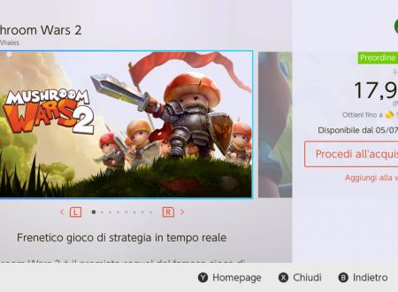 Mushroom Wars 2: il titolo è in arrivo il 7 luglio sui Nintendo Switch europei