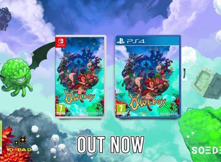 Owlboy: pubblicato il trailer di lancio della versione retail del titolo su Nintendo Switch