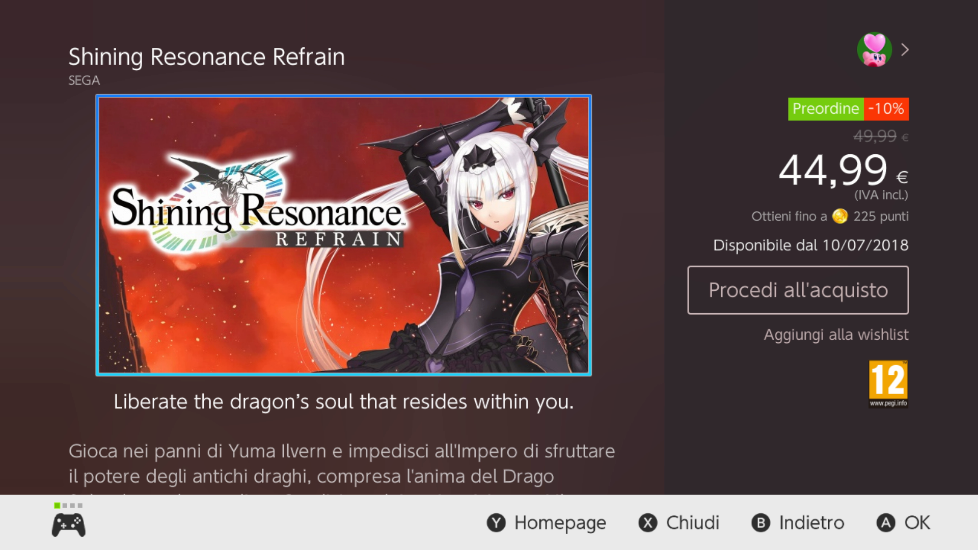 shining resonance refrain il titolo è ora in pre download sui