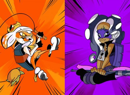 Splatoon 2: pubblicato l'artwork ufficiale dello Splatfest europeo ed americano, Teenage Mutant Ninja Turtles: Michelangelo o Donatello?