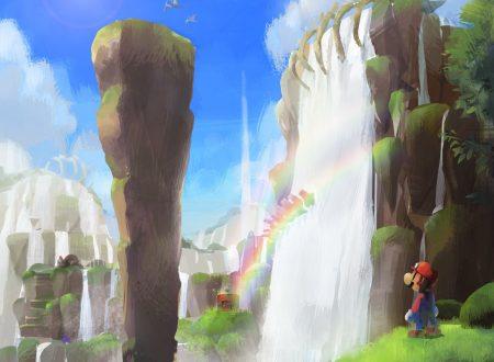 Super Mario Odyssey: mostrato un concept art dedicato alle Rapide Fossili nel Regno delle Cascate