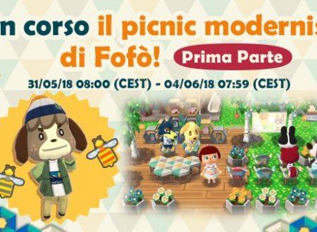Animal Crossing: Pocket Camp, ora disponibile l'evento Picnic modernista di Fofò