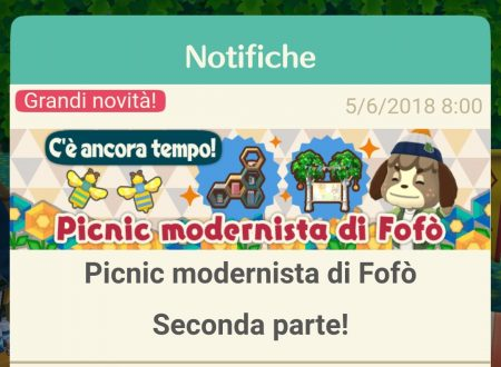 Animal Crossing: Pocket Camp, ora disponibile la seconda parte dell'evento Picnic modernista di Fofò