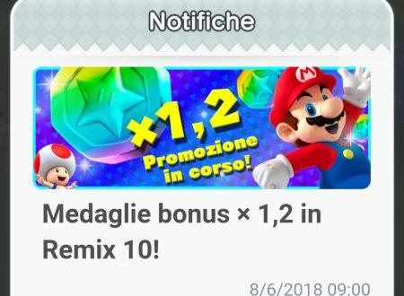 Super Mario Run: disponibile la promozione Medaglie bonus x1.2 in Remix 10
