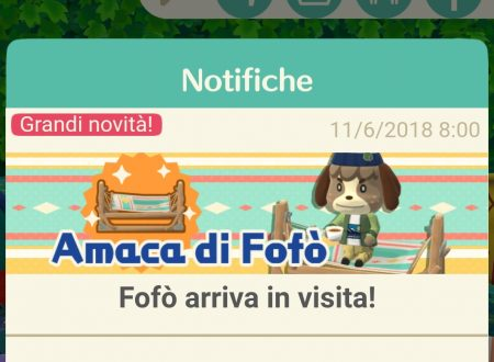 Animal Crossing: Pocket Camp, Fofò arriva in visita nel campeggio del titolo