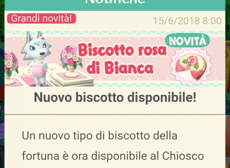 Animal Crossing: Pocket Camp, ora disponibile il biscotto della fortuna di Bianca