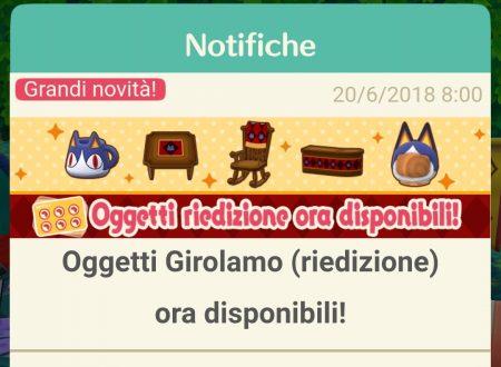 Animal Crossing: Pocket Camp, gli oggetti della serie di Girolamo sono ora disponibili nel titolo