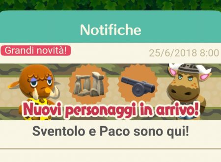 Animal Crossing: Pocket Camp, disponibili due nuovi animali: Sventolo e Paco