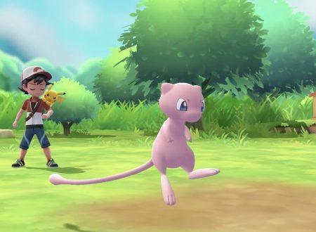 Pokémon: Let's Go, Pikachu & Eevee!, Mew sarà disponibile nella Pokè Ball Plus, video dal Nintendo Treehouse