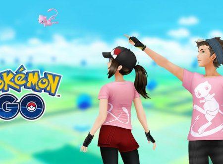 Pokemon GO: la T-shirt dedicata a Mew è ora disponibile nel titolo mobile