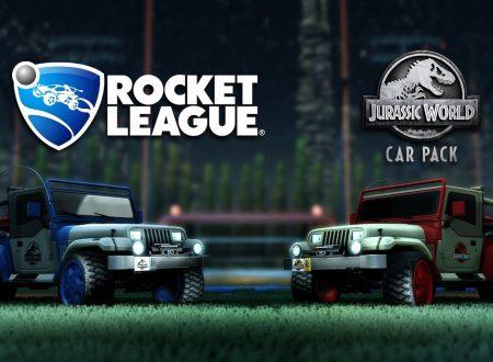 Rocket League: annunciato il Jurassic WorldCar Pack, in arrivo il 18 giugno su Nintendo Switch