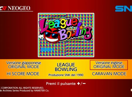 ACA NEOGEO League Bowling, uno sguardo in video al titolo dai Nintendo Switch europei