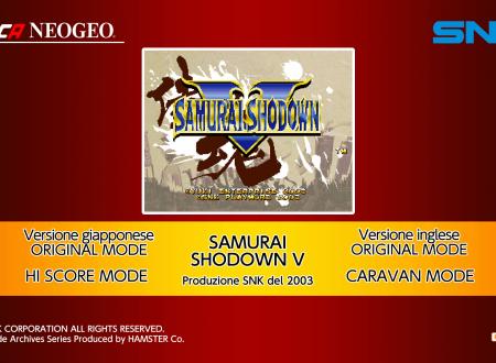 ACA NEOGEO Samurai Shodown V, uno sguardo in video al titolo dai Nintendo Switch europei