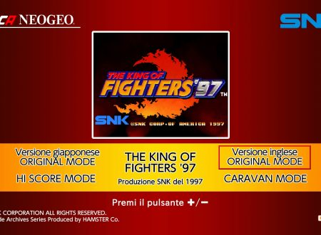 ACA NEOGEO The King of Fighters '97, uno sguardo in video al titolo dai Nintendo Switch europei