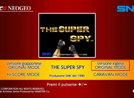 ACA NEOGEO The Super Spy, uno sguardo in video dai Nintendo Switch europei