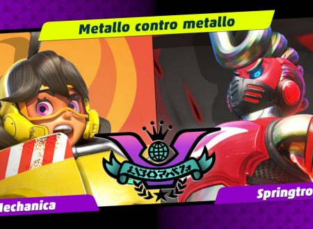 ARMS: uno sguardo in video al tredicesimo Party Crash: Metallo contro Metallo, Mechanica vs. Springtron