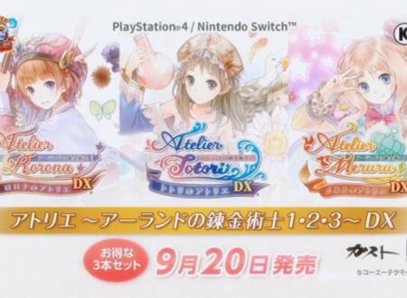 Atelier Rorona DX, Atelier Totori DX e Atelier Meruru DX sono in arrivo il 20 settembre sui Nintendo Switch giapponesi