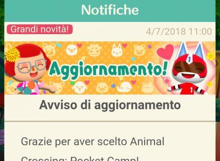 Animal Crossing: Pocket Camp, il titolo aggiornato alla versione 1.6.0 su iOS e Android