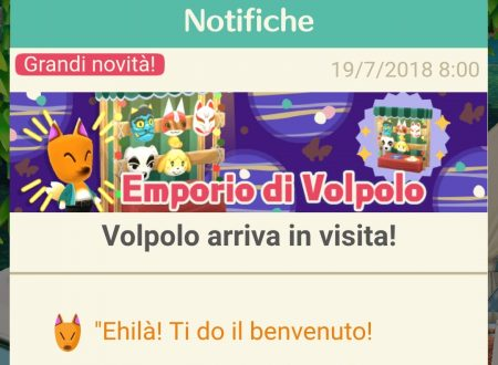 Animal Crossing: Pocket Camp, l'Emporio di Volpolo è ora disponibile nel titolo mobile